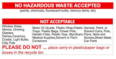 NOT-recyclable